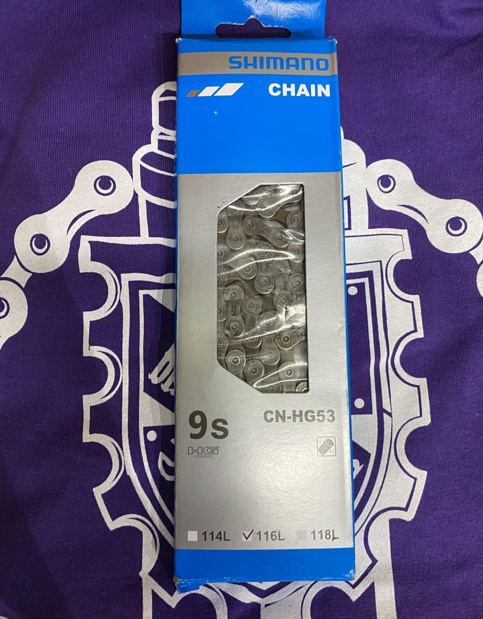 Shimano Shimano CN-HG53 Chain - 9-Speed, 116 Links, Gray