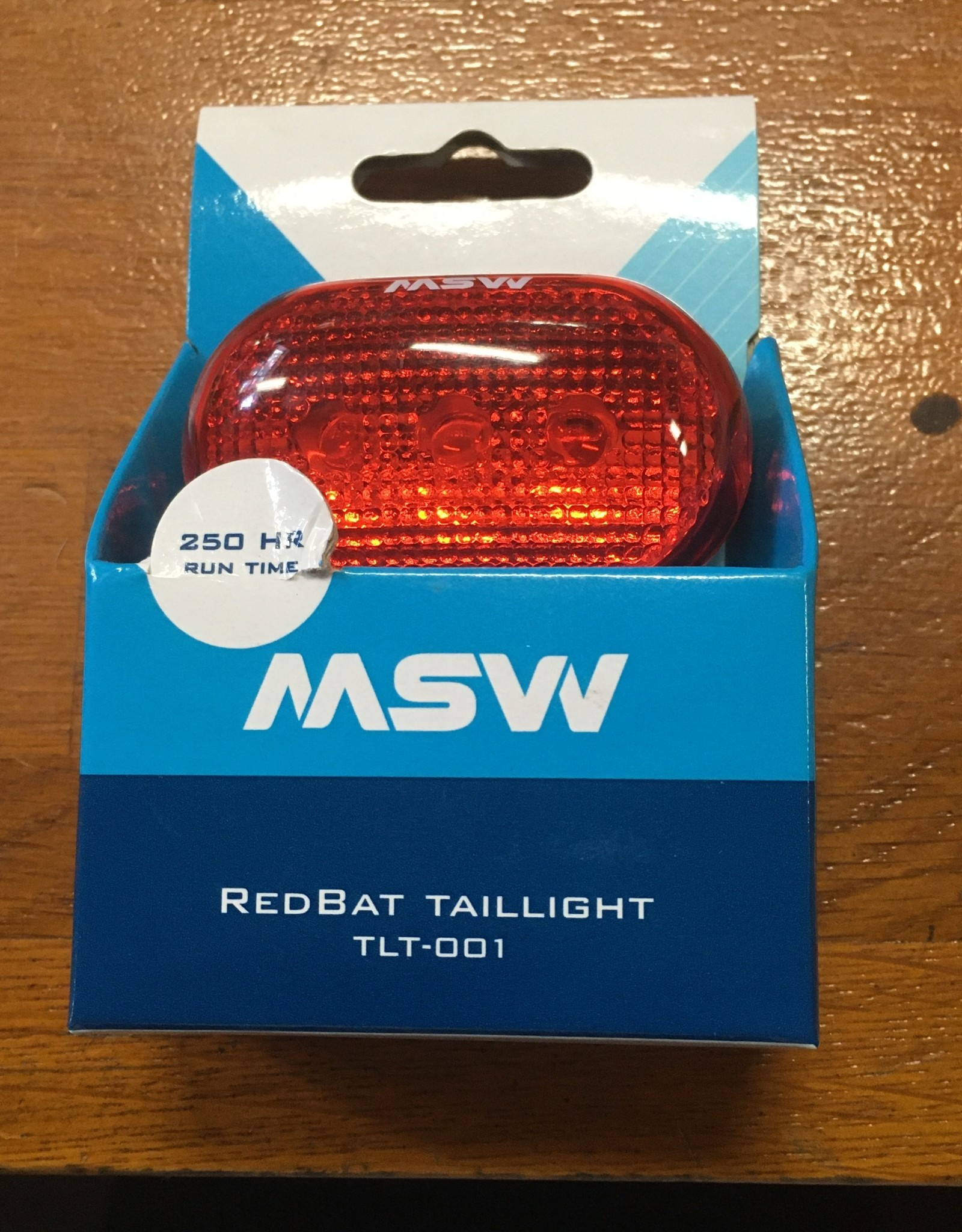 MSW MSW Red Bat Rear Taillight, Black