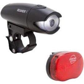 Planet Bike Beamer 1 Lightset with Batteries