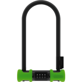 "ABUS Ultra 410 U-Lock - 4.3x9"", Combination, Green, Includes bracket"