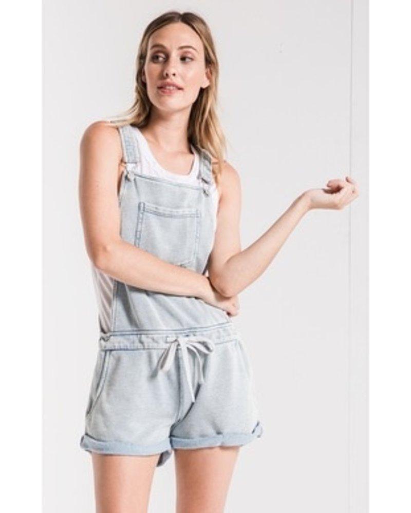 Z Supply Knit Denim Shortalls