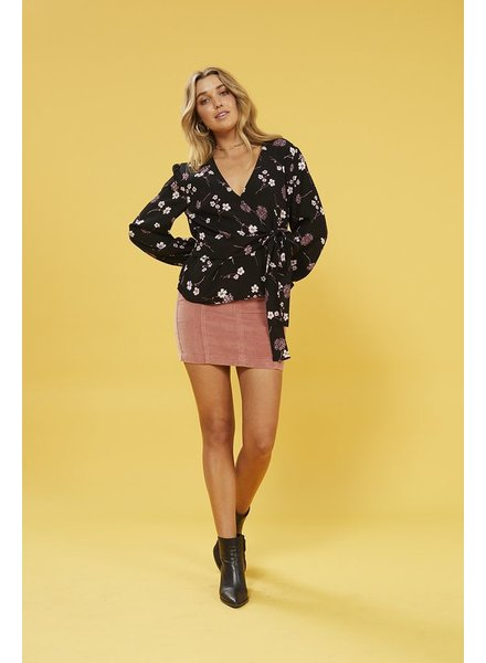 Mink Pink Night Garden Wrap Top
