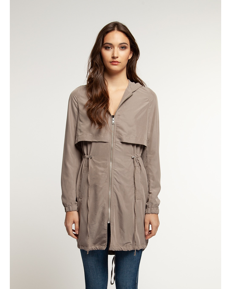 Dex Hooded Trench Coat