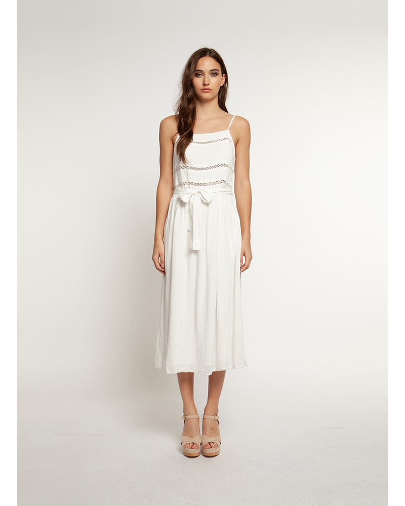 Dex Midi Dress with Tie Waist