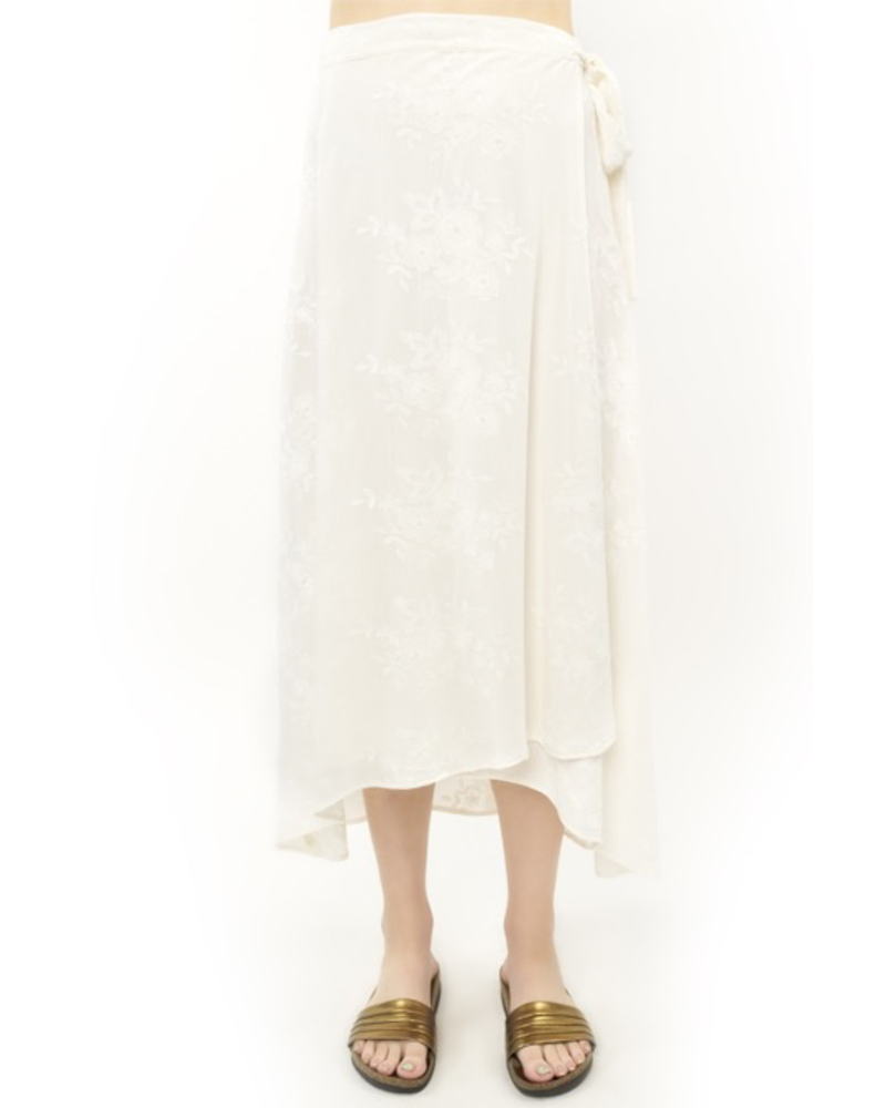 Saltwater Luxe Wrap Midi Skirt