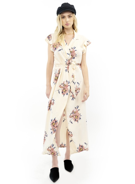 Saltwater Luxe Wrap Maxi Dress w Belt