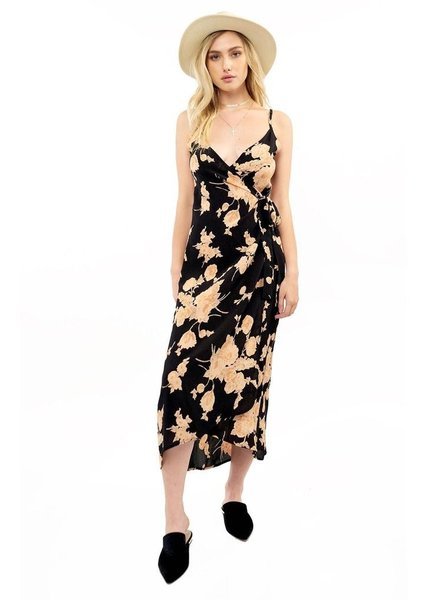 Saltwater Luxe Halsey Midi Floral Dress