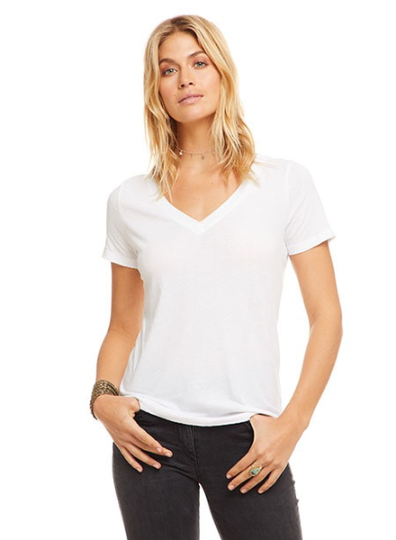 Chaser Cotton Basic V Neck Tee