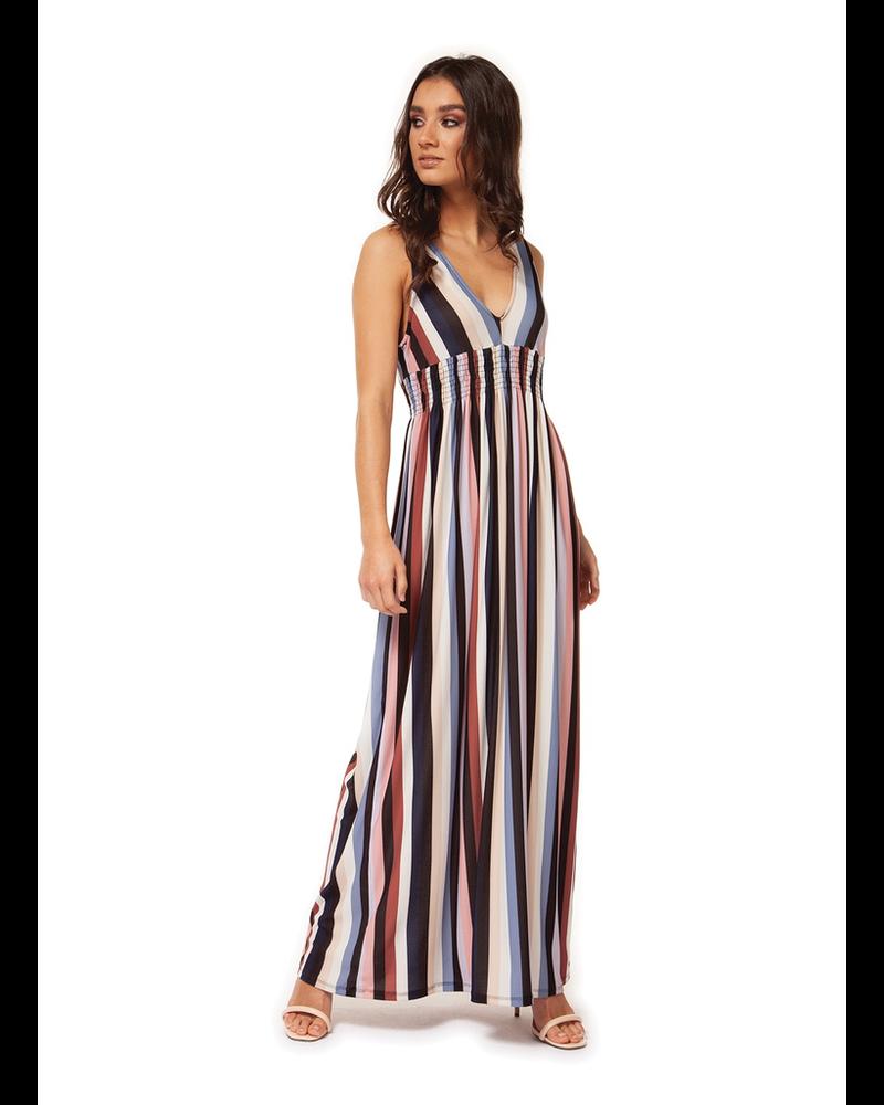 Black Tape V-Neck Maxi Dress