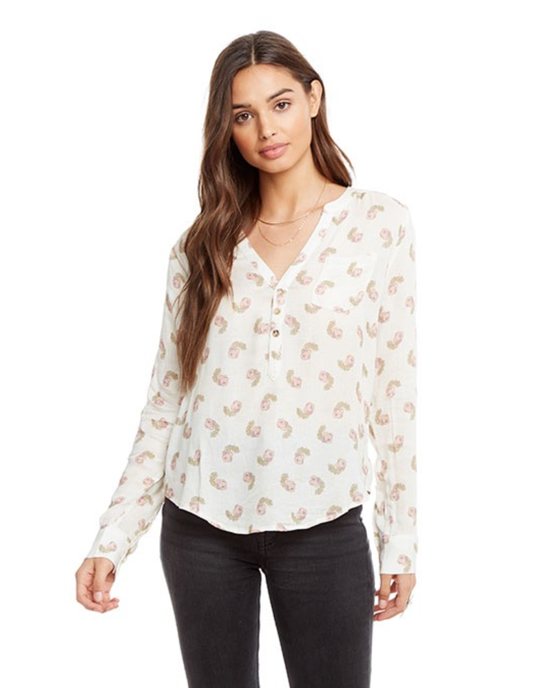 Chaser Heirloom Shirt Tail Henley Top