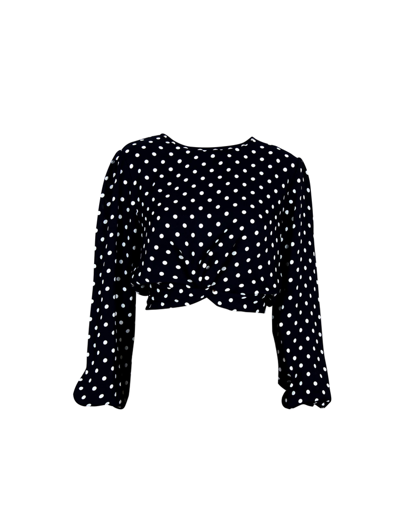 Mink Pink Zain Spotted Blouse
