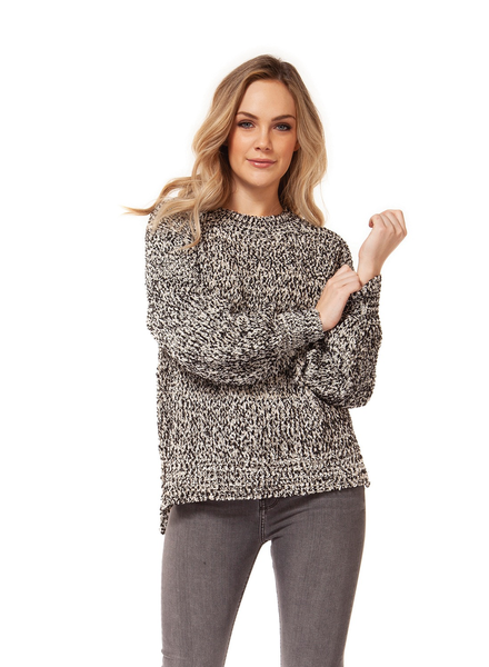 Dex High Low Hem Crew Neck Sweater