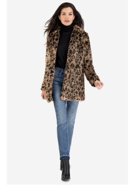 Tribal Leopard Print Coat
