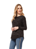 Dex Scoop Neck Sweater with Chiffon Detail