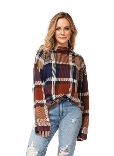 Dex Long Sleeve Mock Neck Sweater