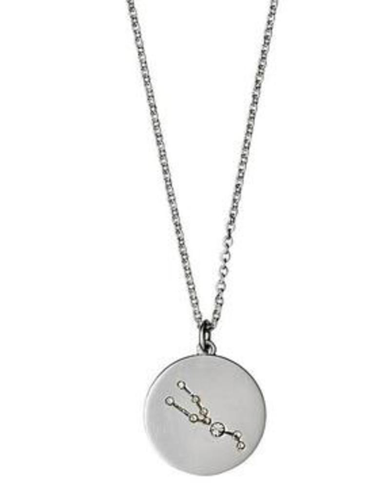 Pilgrim Taurus Silver Necklace