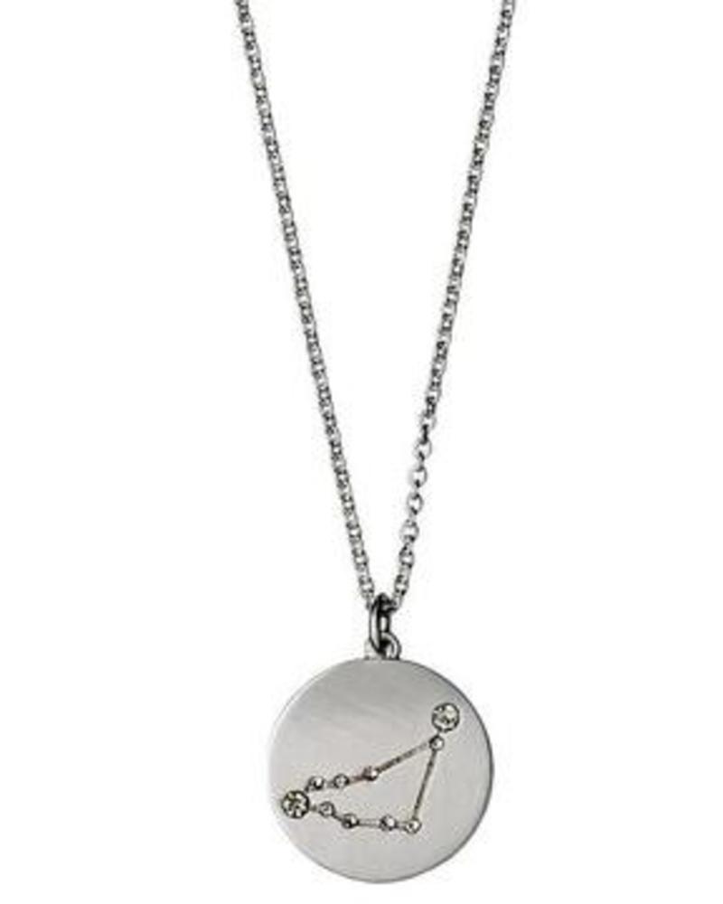 Pilgrim Capricorn Silver Necklace