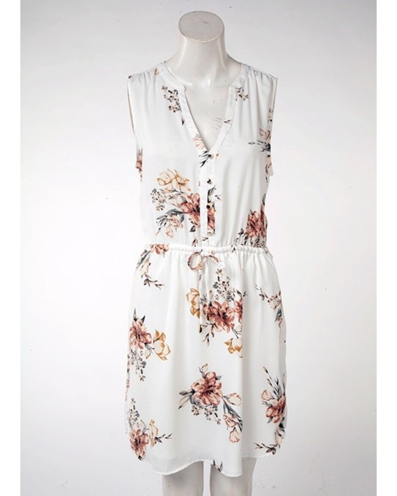 Dex Sandlewood Floral Dress