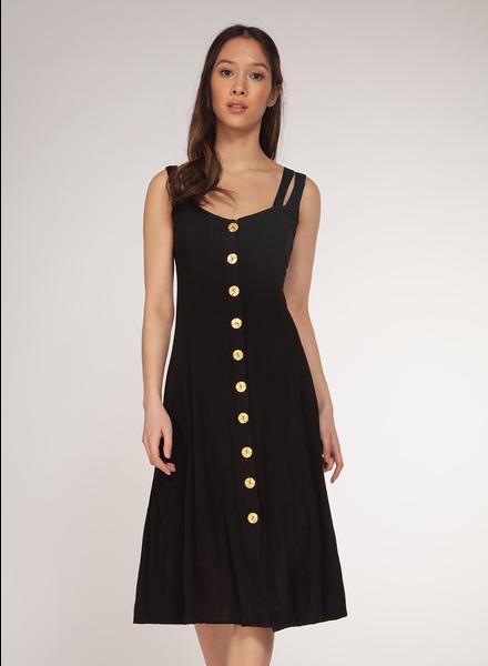 Dex Crossed Strap Button Down Dress