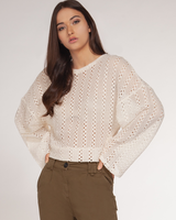 Dex Long Sleeve Crochet Top