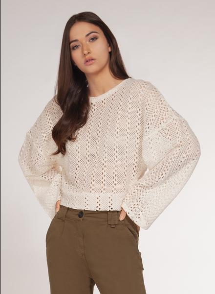 Dex Long Sleeve Crochet Top