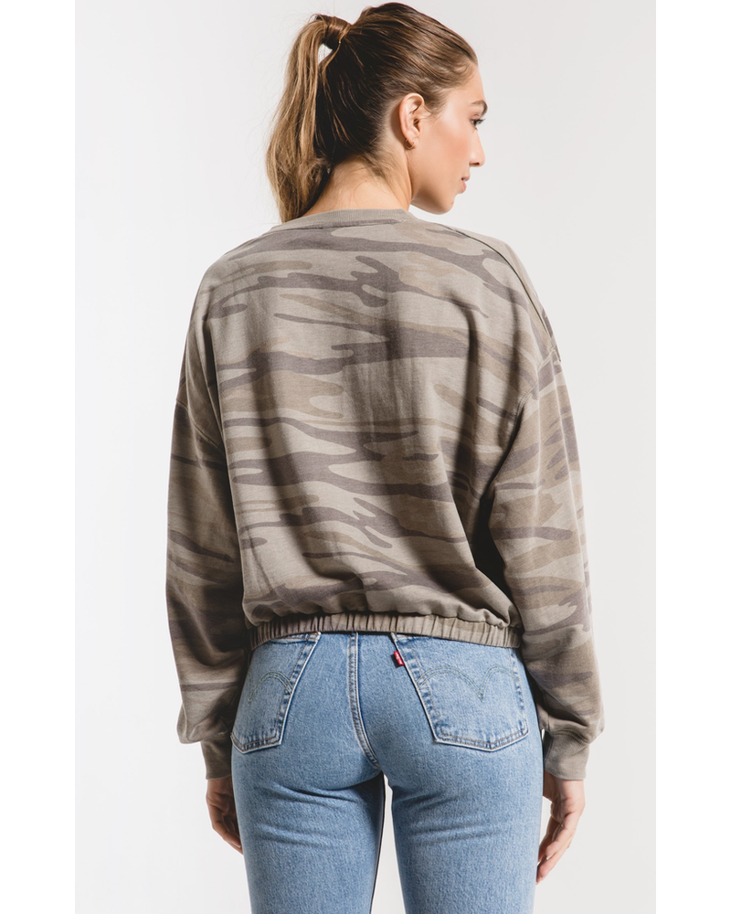 Z Supply Z Supply Camo Relaxed Sweater