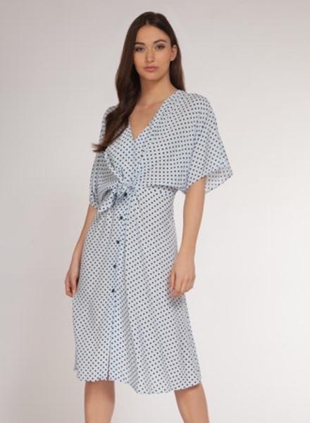 Dex Dex Tie Front Midi Dress