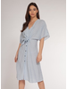 Dex Dex Tie Front Midi Dress