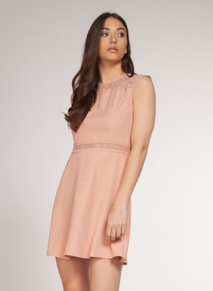 Dex Dex Crochet Detail Dress