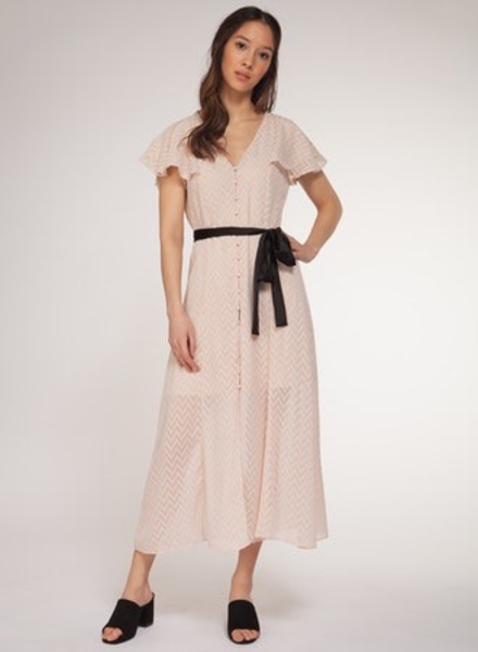 Dex Dex Button Down Midi Dress