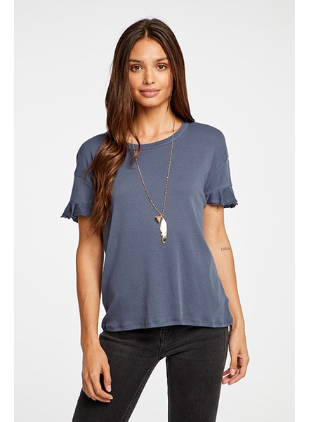 Chaser Chaser Ruffle Sleeve Tee