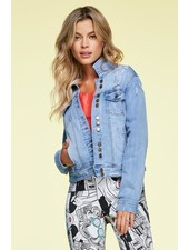 Charlie B Charlie B Distressed Denim Jacket