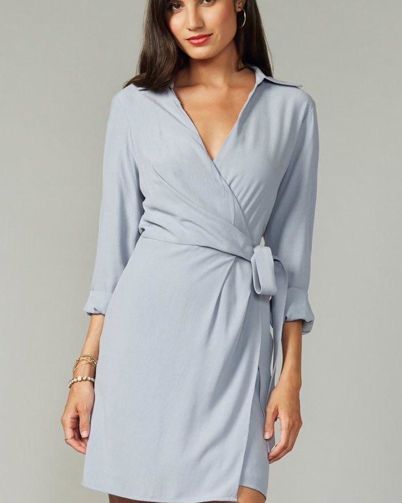 Greylin Greylin Textured Shirtdress