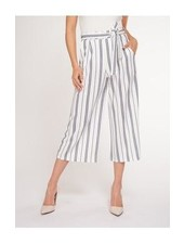 Black Tape Black Tape Belted Culotte Pants