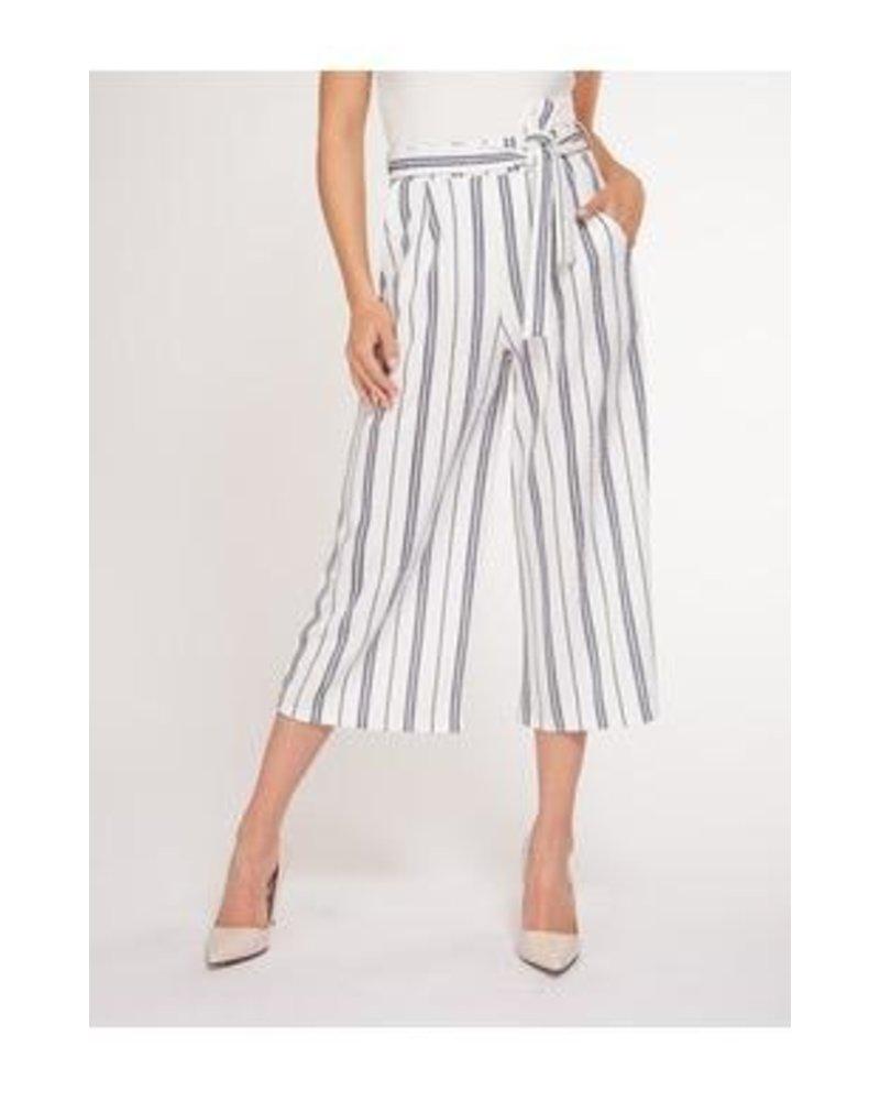 Black Tape Black Tape Belted Culotte Pants
