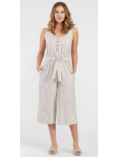 Tribal Tribal Henley Jumpsuit