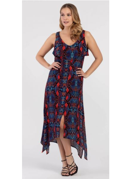Tribal Tribal High Low Maxi Dress