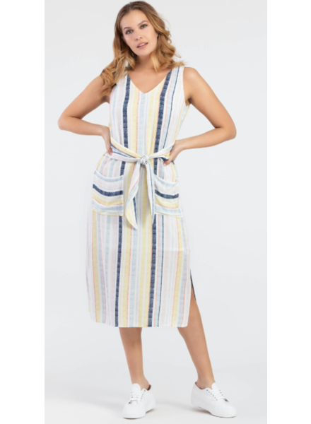 Tribal Tribal Midi Dress with Pockets