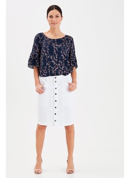 Fransa Fransa Button Skirt