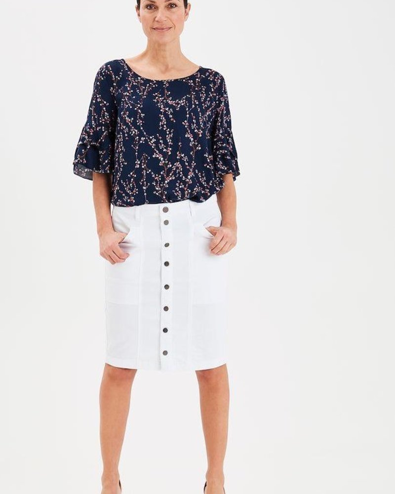 Fransa Fransa Button Skirt
