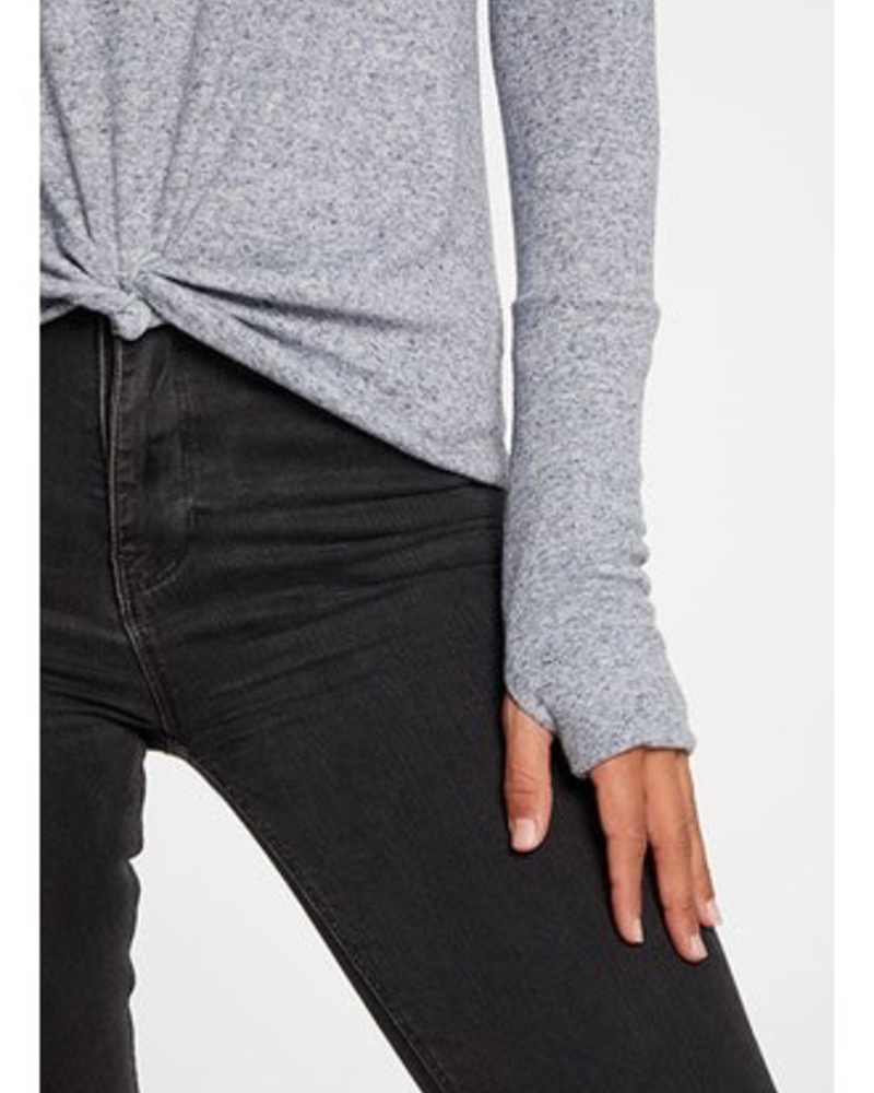 Chaser Chaser Thumbhole cuff Knit Top