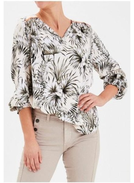Fransa Fransa Long Sleeve Palm Top