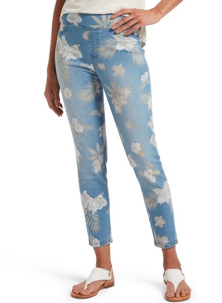 HUE Hue Tropical Orchid Skimmer Jean
