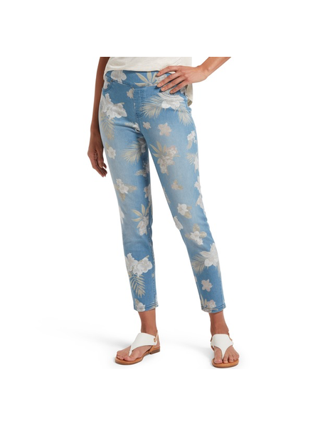 HUE Hue Tropical Orchid Skimmer Jean