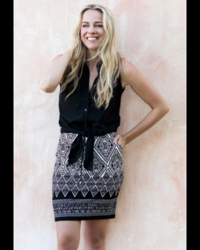 Esqualo Esqualo Printed Skirt