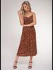 Black Tape Black Tape Leopard Print Maxi Dress