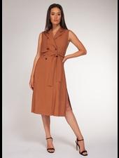 Black Tape Black Tape Sleeveless Trench Dress