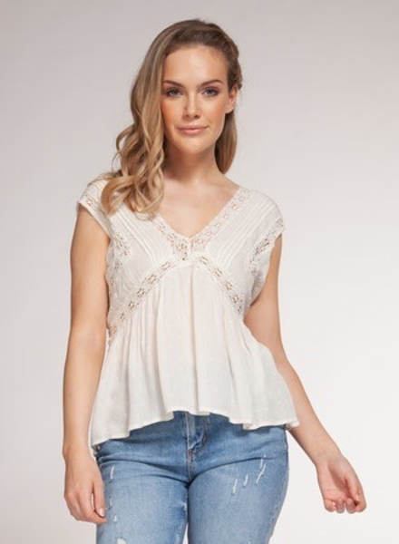 Dex Dex Crochet Detail Top