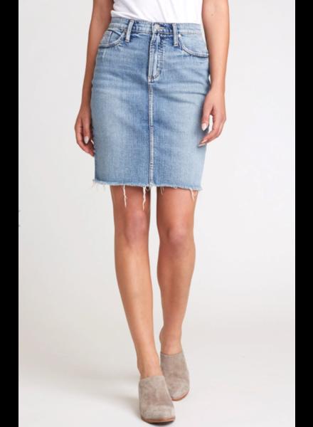 Silver Silver Frisco Pencil Skirt