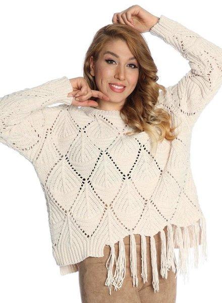 Michael Tyler Fringed Sweater